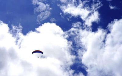 Paragliding Near Canaan Valley, West Virginia